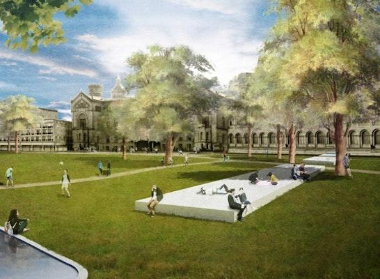 Ergebnis Umgestaltung Campus Park Welfengarten
