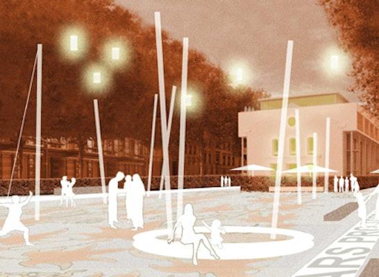Blumenplatz Krefeld; Perspektive Willi Landers