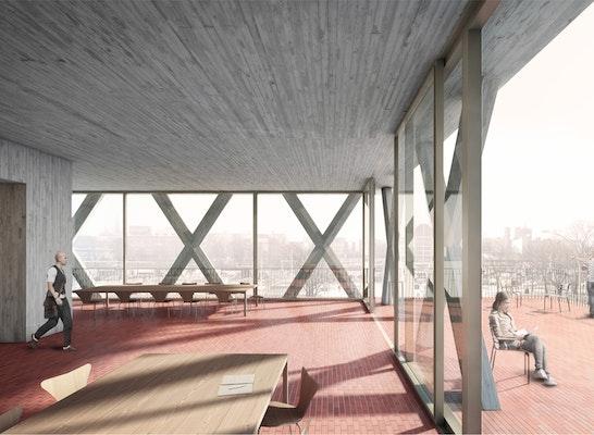 Architekten Luxemburg 1st prize neubau der rosa luxemburg stiftung competitionline