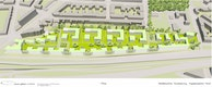 Städtebauliche Visualisierung_Vogelperspektive Nord