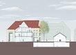 Schnitt Altbau-Hof