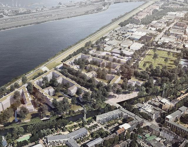 BIWERMAU Architekten BDA // WES Landschaftsarchitekten // Visualisierung: bloomimages