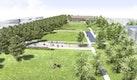 Blick über den Estienne-Foch-Park Richtung Süden
