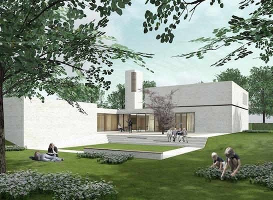 neubau eines evangelischen gemeindezentrums competitionline. Black Bedroom Furniture Sets. Home Design Ideas