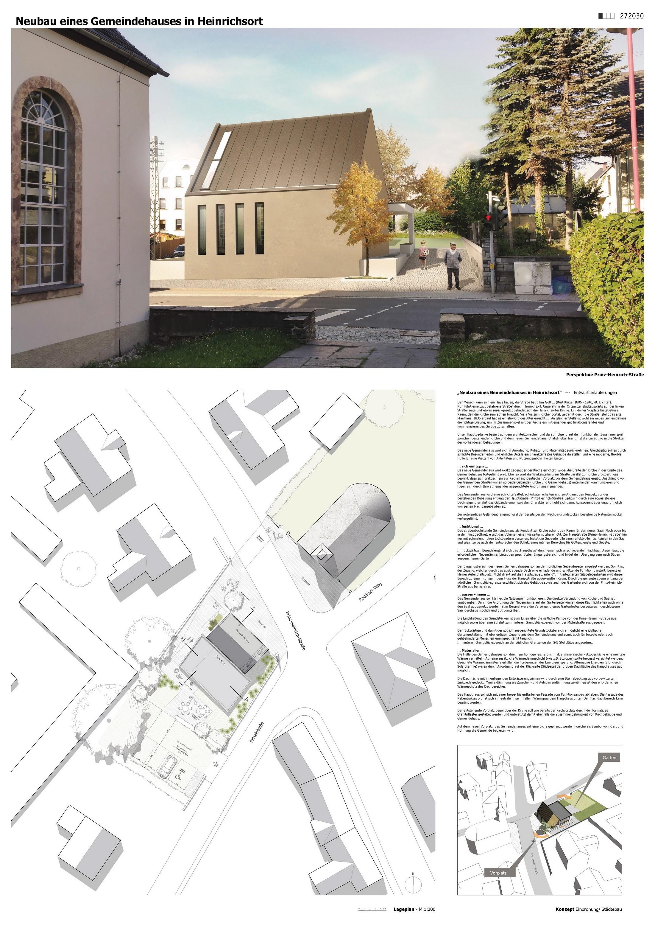 Ergebnis Neubau Eines Gemeindehausescompetitionline - Längs zum lichteinfall