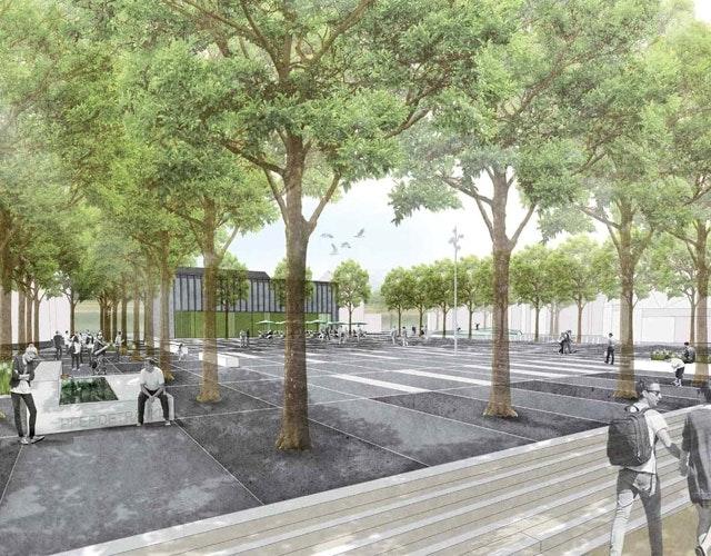 """""""Marktplatz und Umfeld"""" - Neuer Stadtplatz für einen traditionellen Markt und Treffpunkt für die Stadtgesellschaft"""