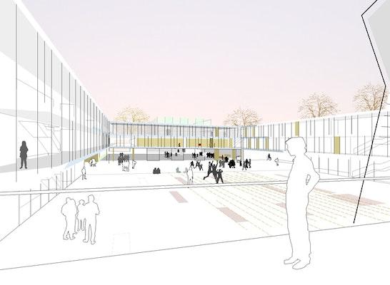 Ergebnis Erweiterung Gymnasium Und Neubau 3 Feld Sp