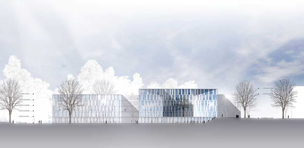 Architektur Ansicht result neubau investitionsbank des landes brandenbu competitionline