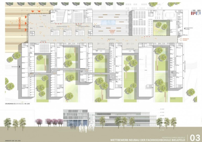 ergebnis neubau campus fachhochschule bielefeld am competitionline - Fh Bielefeld Bewerbung