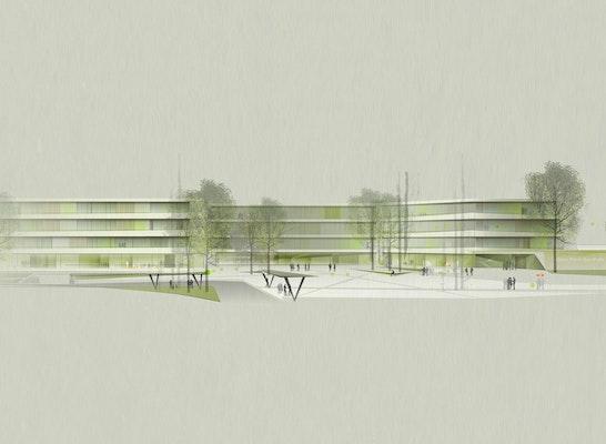 Neubau der Oscar-Paret-Schule - Ansicht - dasch zürn architekten