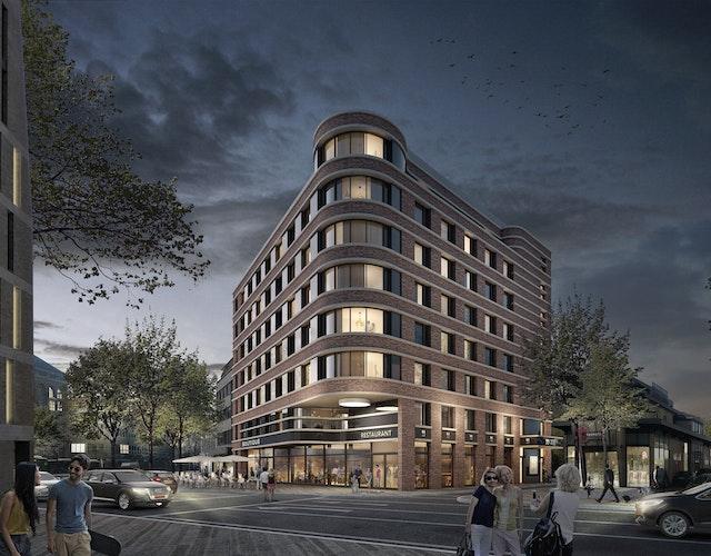 """Das Bauwerk fungiert mit seiner erhöhten Eckbetonung als """"point de vue"""""""