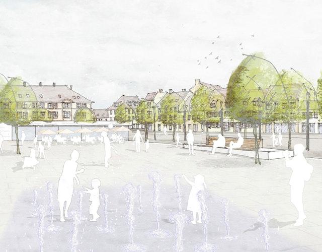 Im Herzen der Innenstadt von Landau entsteht ein belebter Stadtplatz – der neue Weißquartierplatz