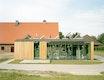 Sanierung Stallgebäude Gut Karlshöhe, gläsernes Kesselhaus, Foto Markus Dorfmüller