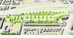 Städtebauliche Visualisierung_Vogelperspektive Süd