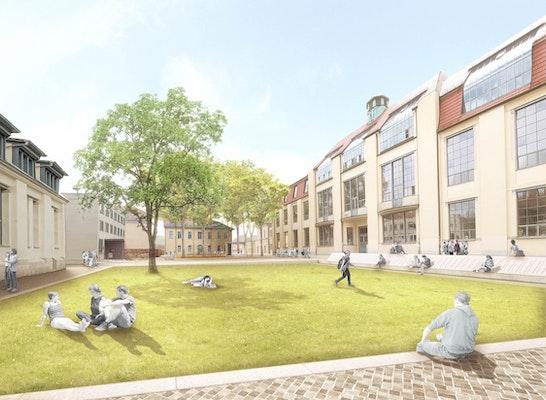 1. Preis: Perspektive Campuswiese, © capattistaubach Landschaftsarchitekten