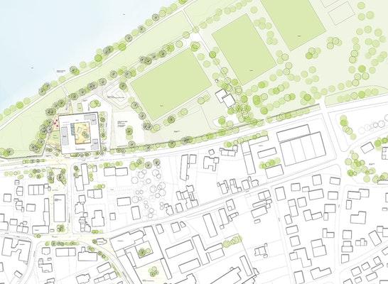 ein 1. Preis: Lageplan, © Behnisch Architekten