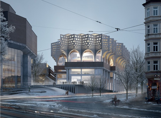 © Peter Haimerl. Architektur / LUDES Architekten - Ingenieure GmbH / Keller Damm Kollegen