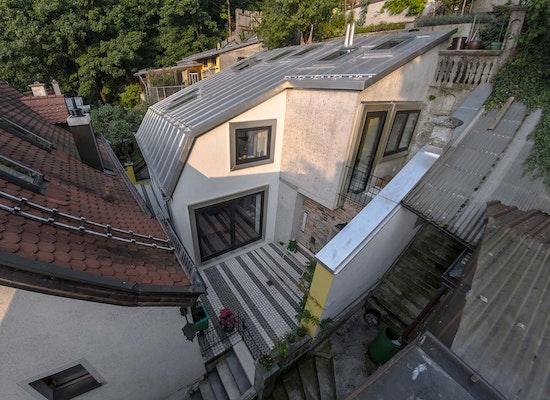 Ansicht West; Architektinnen: Kristin Leonard und Lisa Hautum (Leonard Hautum Architekten, Berlin)