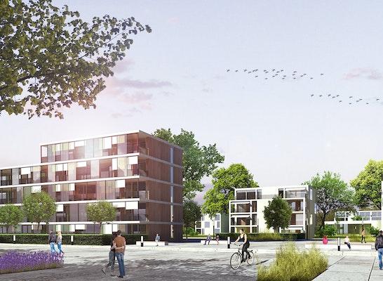 Perspektive Alsterplatz, © O. M. Architekten + chora blau Landschaftsarchitektur