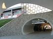 das Kuppelbauwerk mit elliptischem Tunnel aus den 50er Jahren wurde sorgfältig saniert und mit der filigranen Bahnsteighalle zu einem robusten Zielbahnhof für das Stadion Warszawa vervollständigt