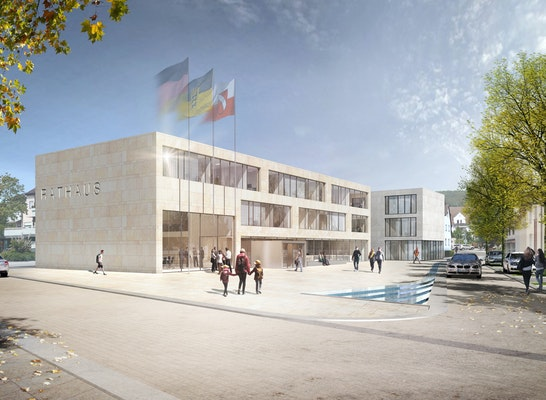 Ergebnis Neubau Rathaus I Neuordnung Rathausareal