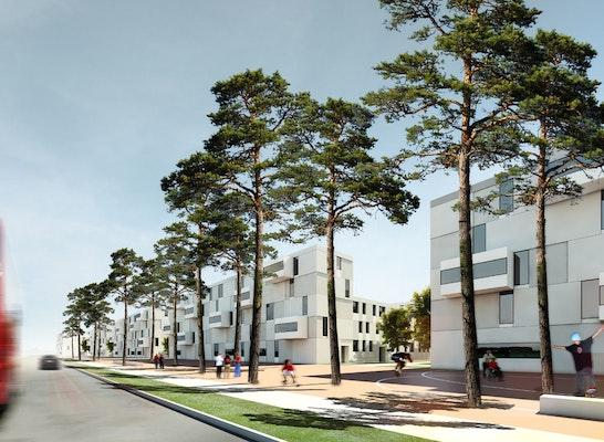 ergebnis neubau eines wohnquartiers auf dem gel nd competitionline. Black Bedroom Furniture Sets. Home Design Ideas