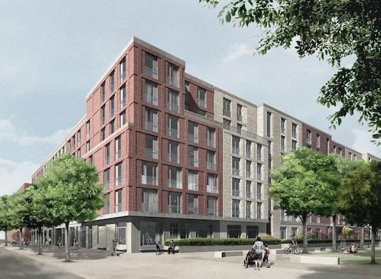 Ergebnis entwicklung mitte altona wohnungsbau i for Architekten hamburg altona
