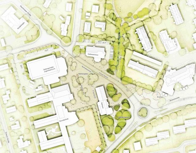 Lageplan Reppenstedt Ortsmitte, © nsp christoph schonhoff landschaftsarchitekten stadtplaner