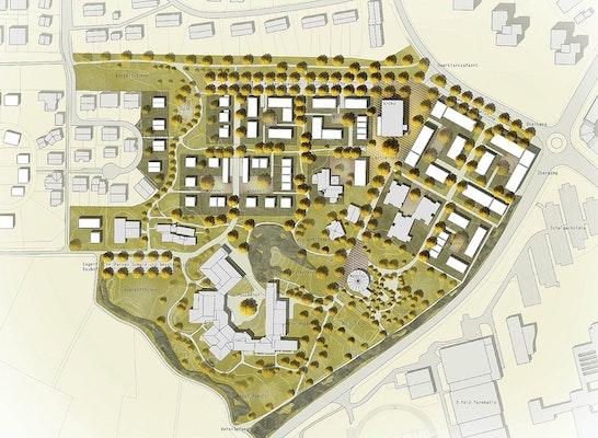 1. Preis: Städtebaulicher Entwurf 1:1.000
