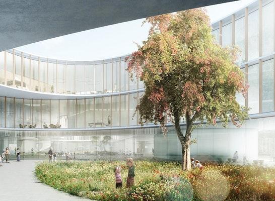 """1. Preis: """"Das Neue Hauner"""" - Einladende Freiflächen, © Nickl & Partner Architekten AG"""