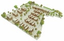 Städtebauliche Skizze  -  Blick von Nordwest